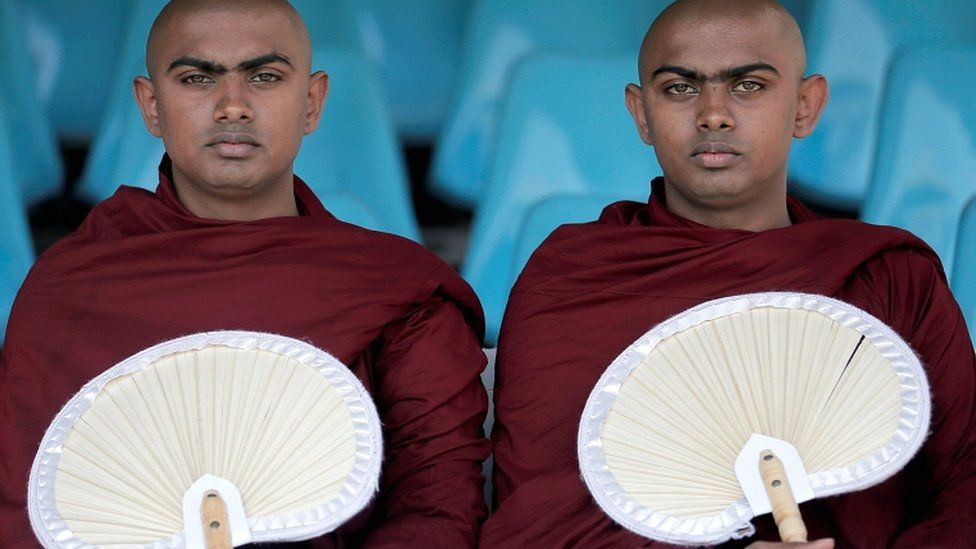 Buddhist monks Padiyapalalle Sugathasara and Padiyapalalle Vipulasara