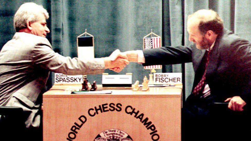 Boris Spassky and Bobby Fischer in 1992