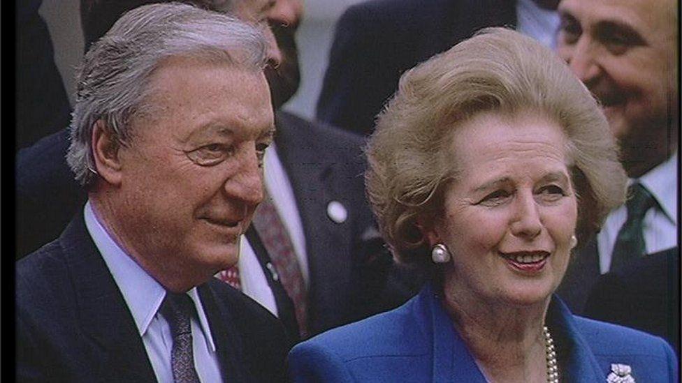 Charles Haughey and Margaret Thatcher