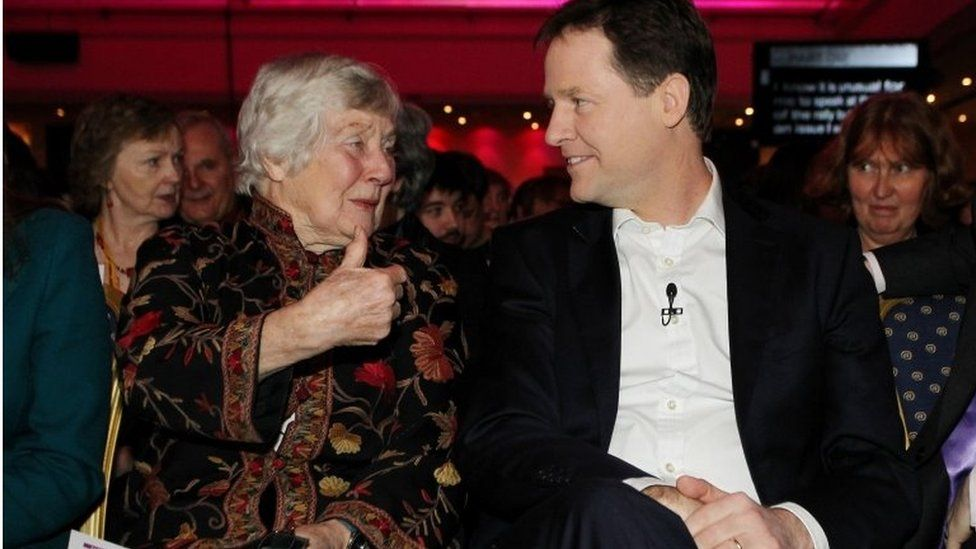 Baroness Williams and Nick Clegg