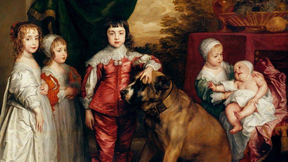 Sir Anthony Van Dyk, The five eldest children of Charles I 1637