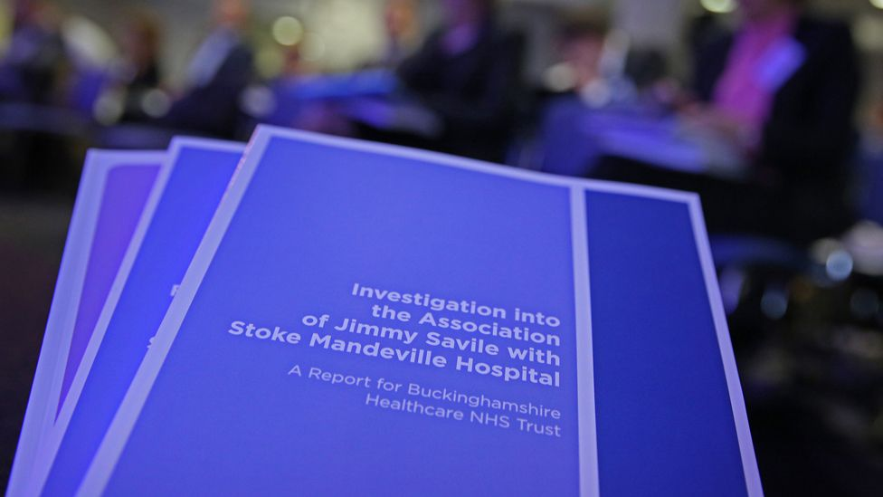 "Files entitled ""Investigation into the Association of Jimmy Savile with Stoke Mandeville Hospital"