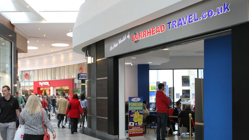 Barrhead Travel store front