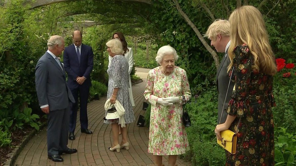 The Queen at the Eden Project