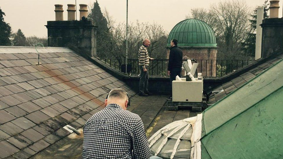 On the roof of the observatory