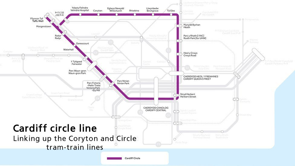 Map of Circle Line
