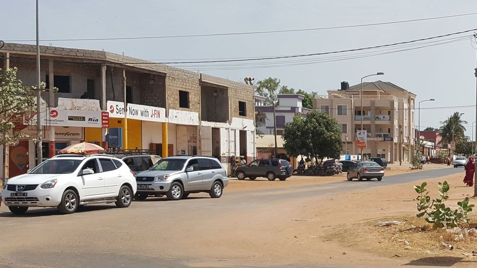 The street opposite Pipeline Mosque, off Kairaba Avenue in Banjul
