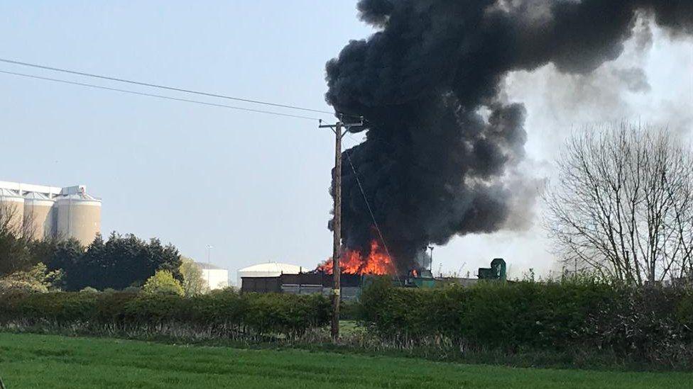 Metal fire in Newark