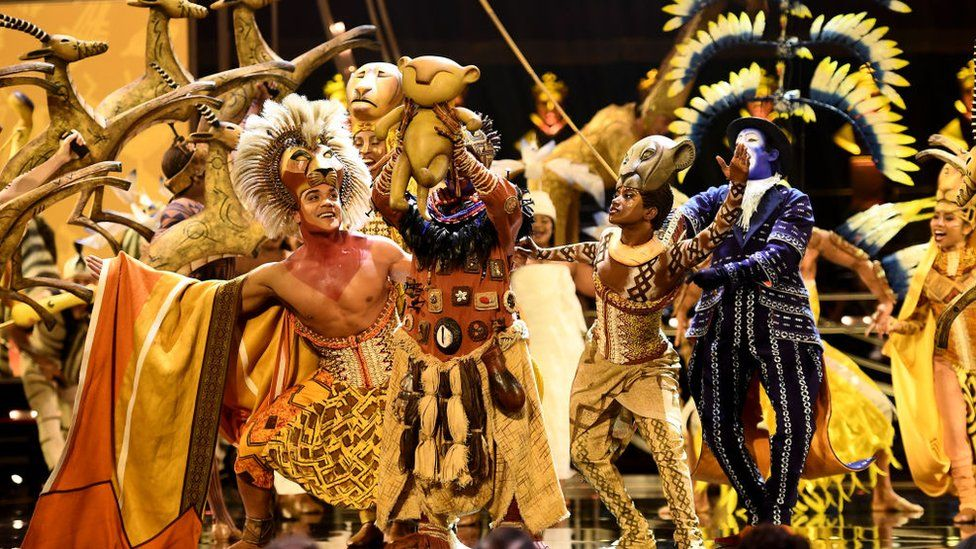 Live stage performance of Lion King