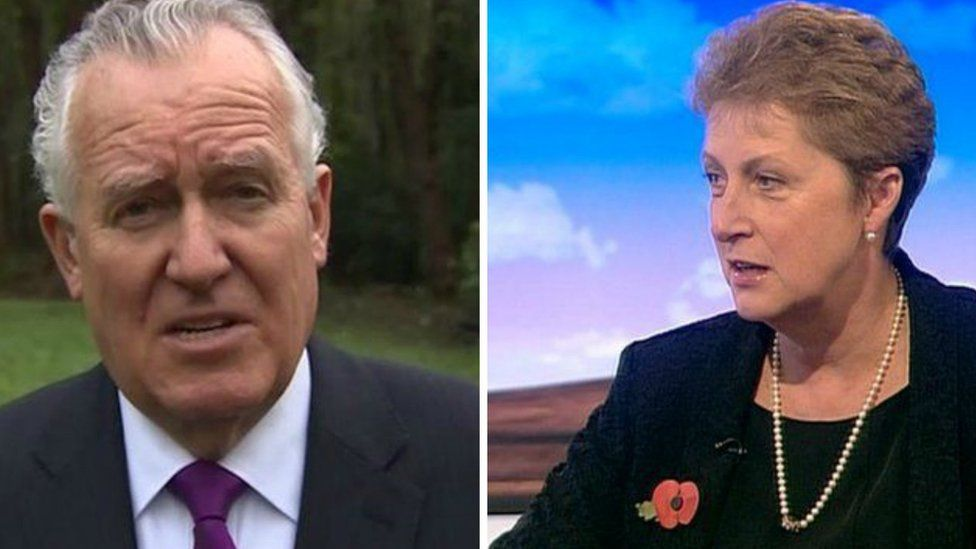 Peter Hain and Gisela Stuart