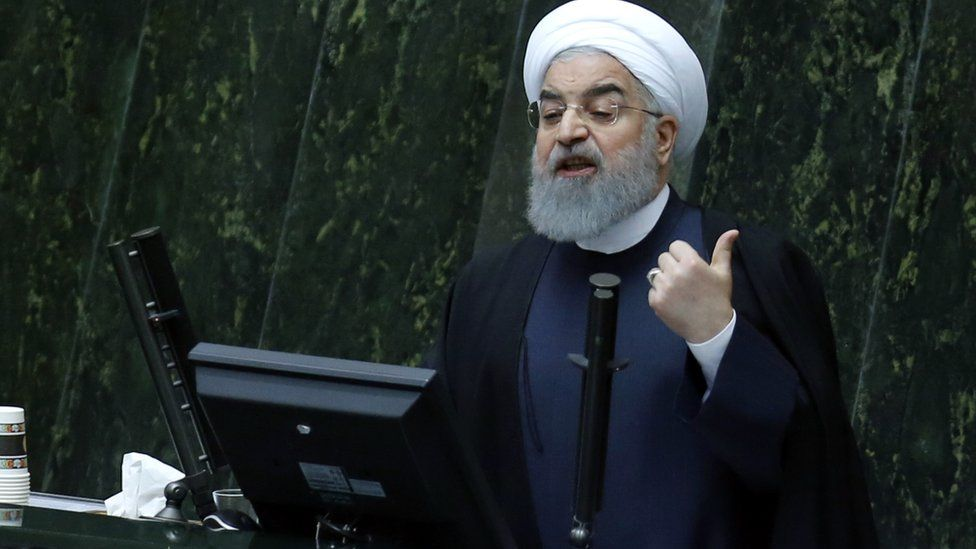 Iranian President Hassan Rouhani presents his budget for 2018-2019 on December 10, 2017
