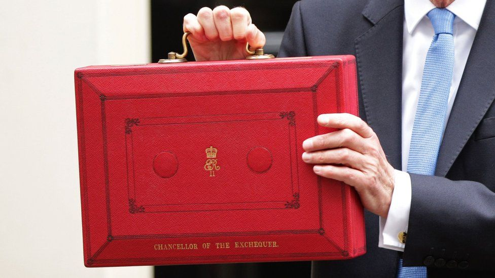 Philip Hammond with budget box