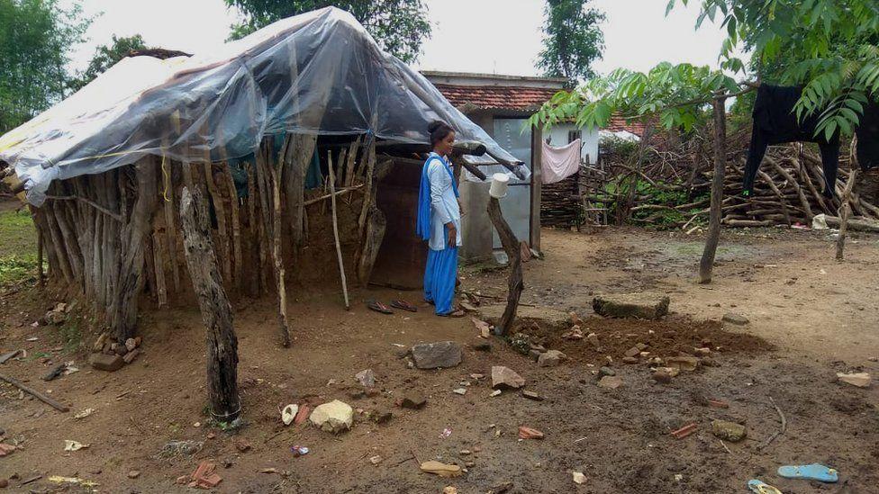 The period hut in Chandala Toli village