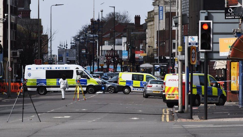 Police on Trinity Way