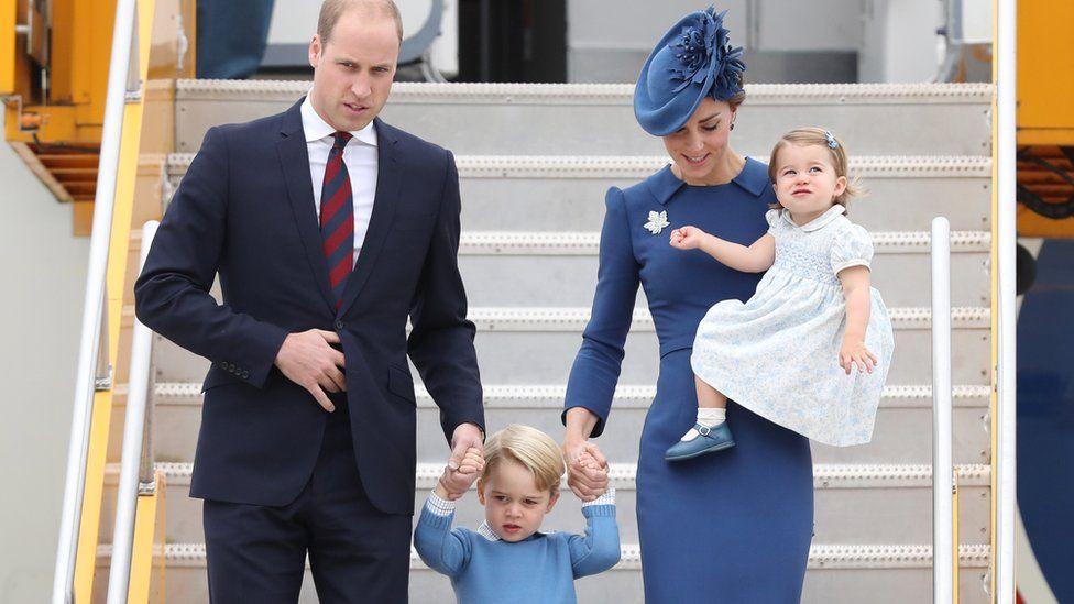 Prince William, Duke of Cambridge, Catherine, Duchess of Cambridge, Prince George of Cambridge and Princess Charlotte
