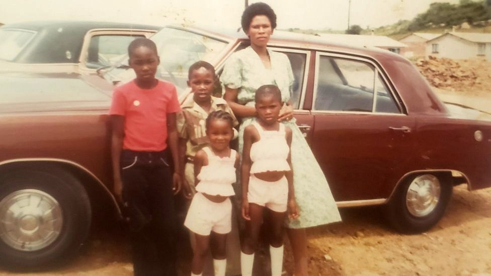 Agnes Sithole and her four children