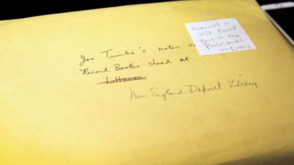 This is the envelope Smith Zrull found in the plate stacks that included a handwritten catalog of all of the women computer's notebooks. A person named Joe Timko painstakingly went through the collection in 1973.