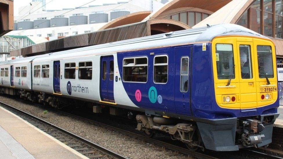 Northern train in Manchester Oxford Road