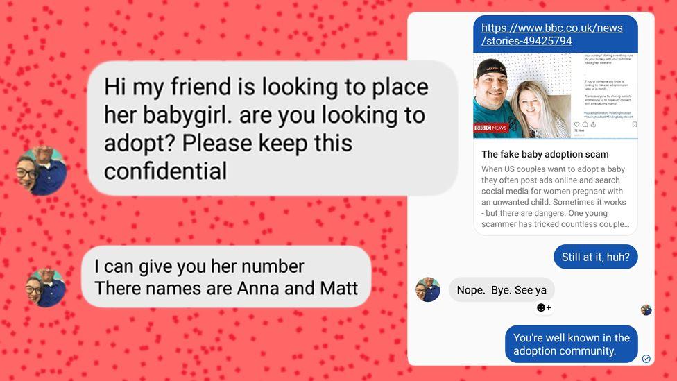 Screenshots of messages