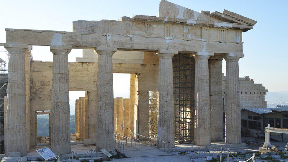 Back view of the Parthenon, Athens
