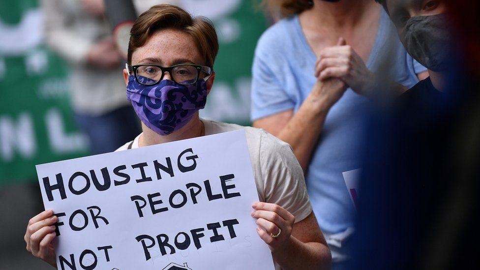 Manifestante de vivienda