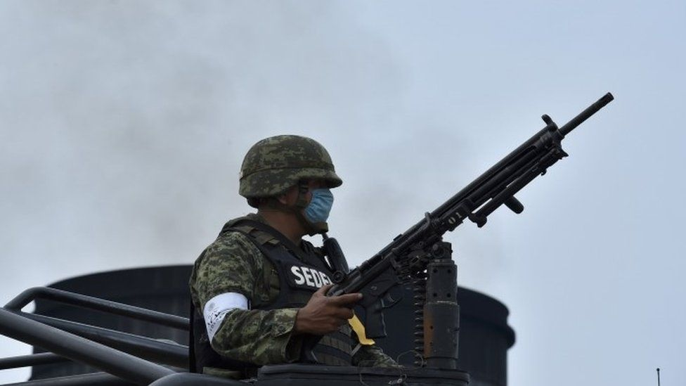 Soldier in Mexico