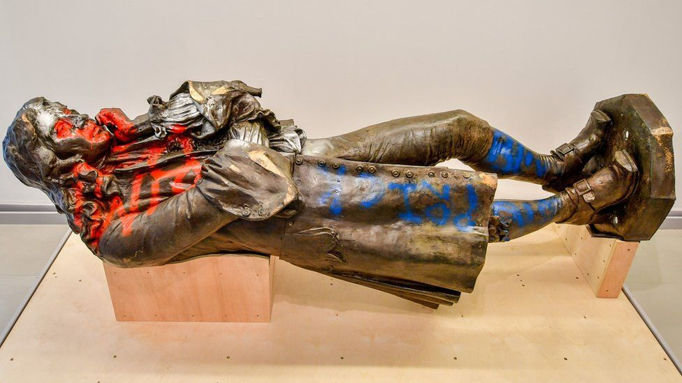 Statue of Bristol slave trader Edward Colston