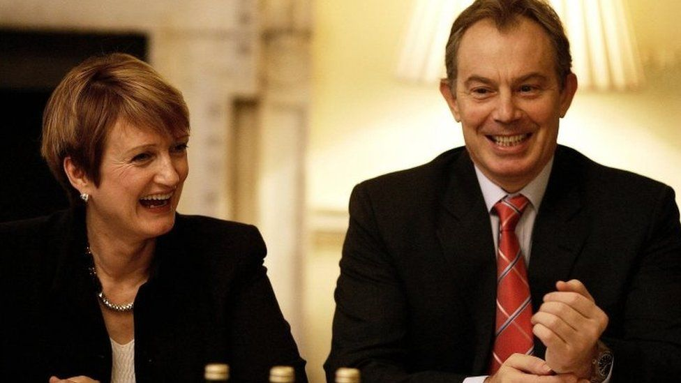 Tessa Jowell with Tony Blair in 2005