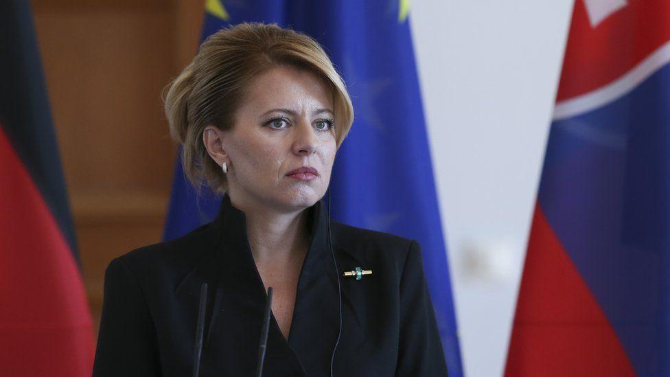 Zuzana Caputova in Berlin in August 2019