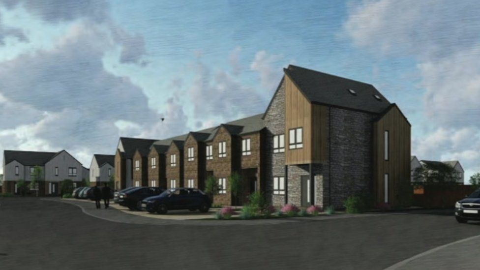 Artist impression of the site