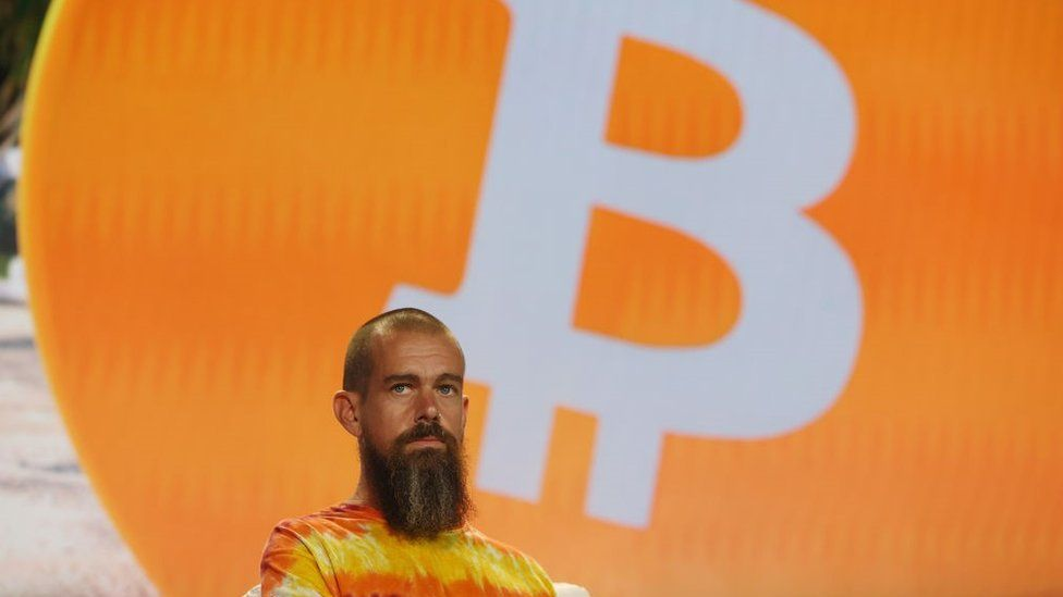 Jack Dorsey creator, co-founder, and Chairman of Twitter and co-founder & CEO of Square speaks on stage at the Bitcoin 2021 Convention, a crypto-currency conference held at the Mana Convention Center in Wynwood on June 04, 2021 in Miami, Florida