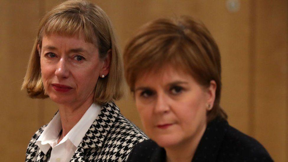 Leslie Evans and Nicola Sturgeon