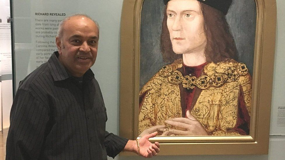 Mike Mistry in the Richard III Visitor Centre