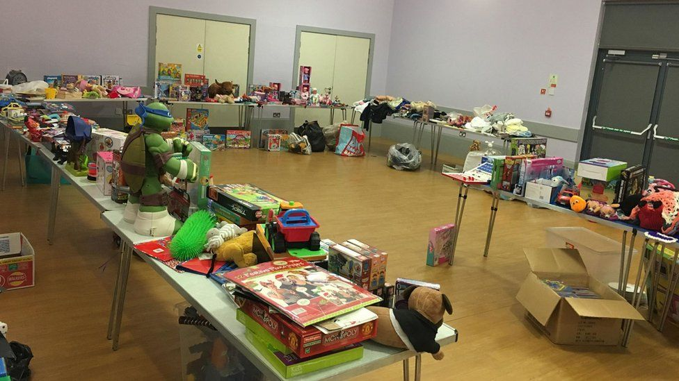 Donations at community centre in Deans area of Livingston