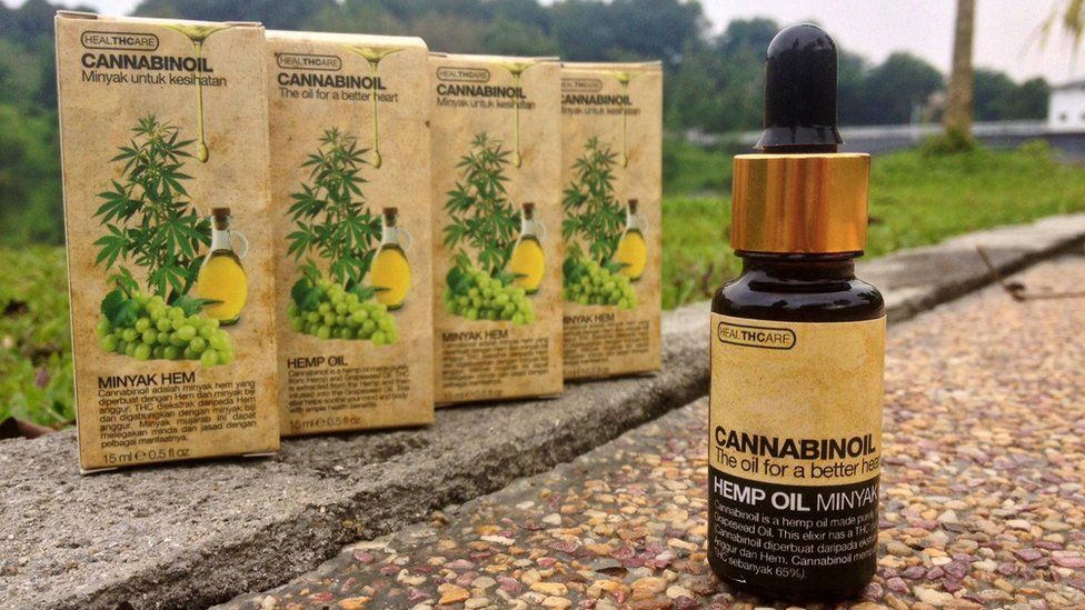 Cannabis oil bottle sold over Facebook