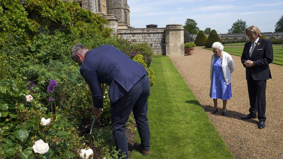 Queen marks what would have been Philip's 100th birthday with new rose -  BBC News