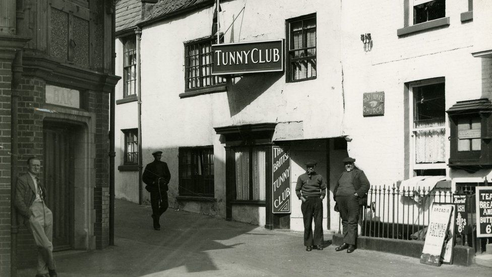 Exterior of The Tunny Club, Scarborough, in