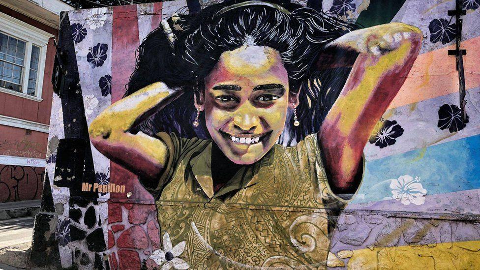 графіті з дівчиною