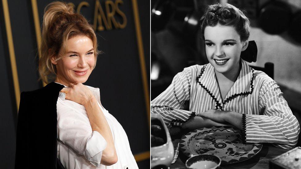 Renée Zellweger and Judy Garland