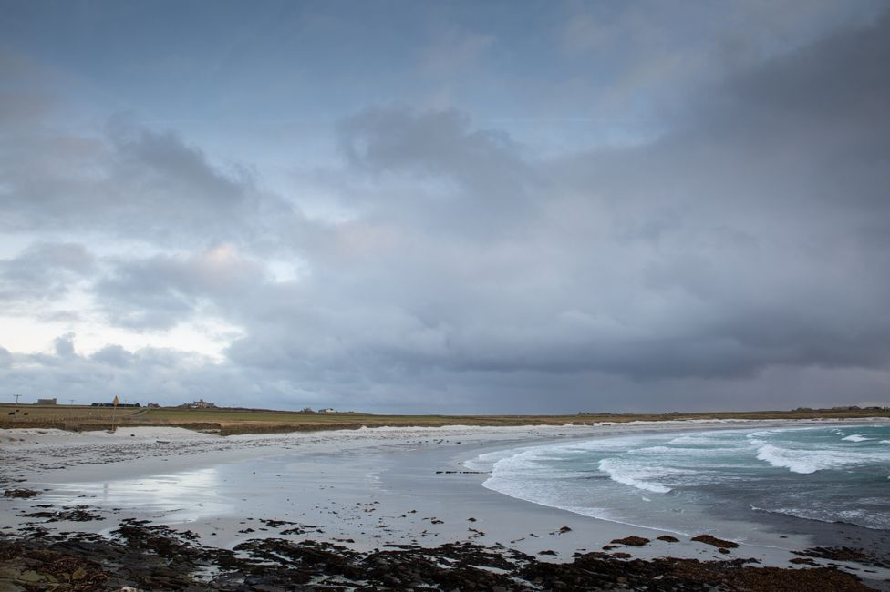 Windy beach Ronaldsay