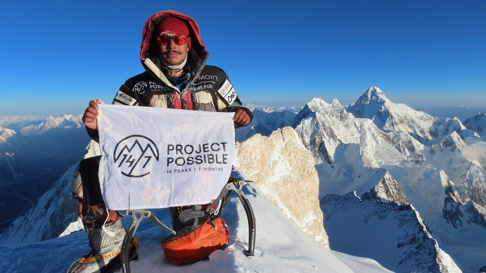 Nirmal Purja at Gasherbrum II