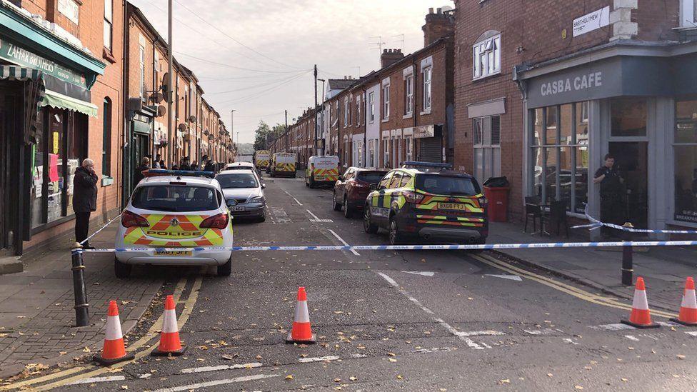 Police cordon in Bartholomew Street
