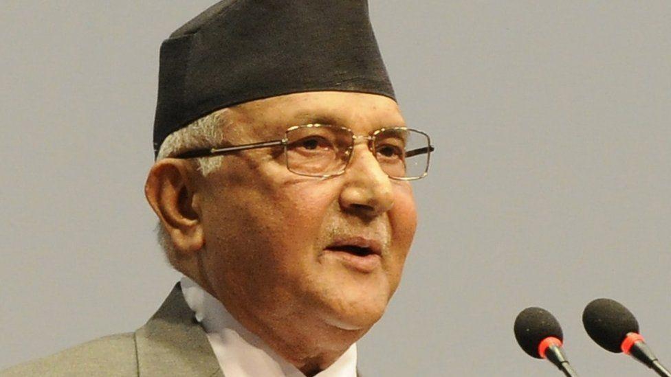 Nepalese prime minister Khadga Prasad Sharma Oli