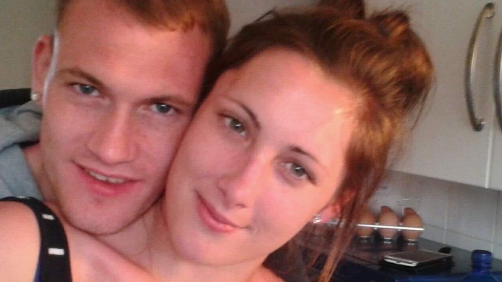 Nathan Ariss with his fiancee, Gemma Smiles