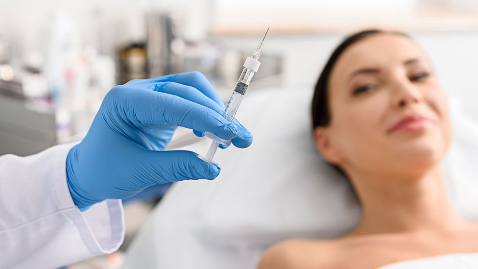 A woman about to have Botox