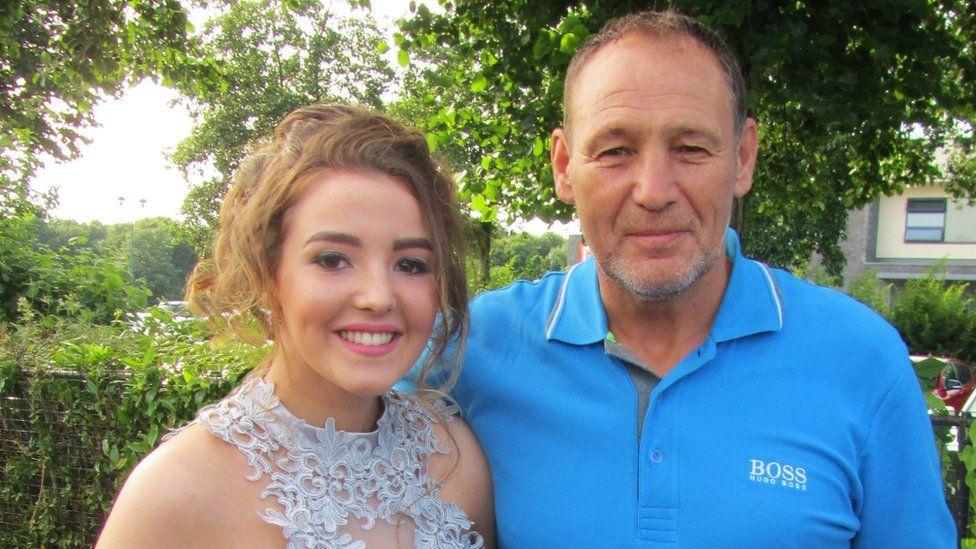 Mark Bradbury with his daughter Hannah