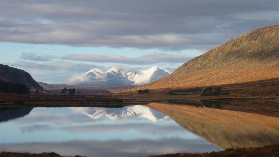 An Teallach across Loch Droma