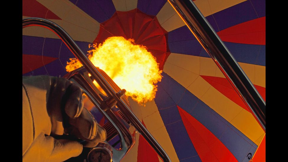 A view within an air balloon