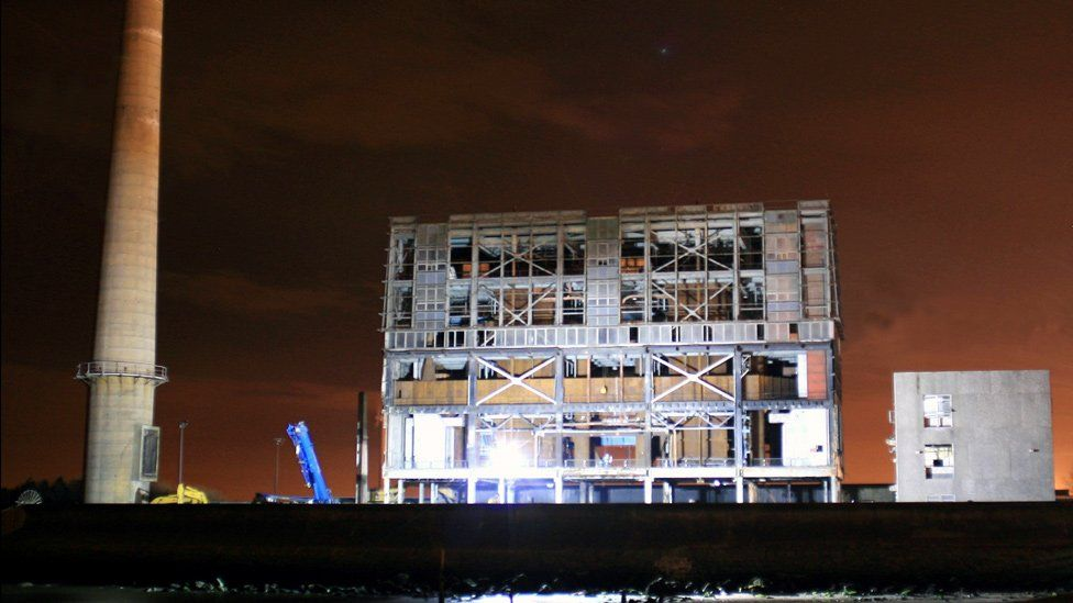 Leven Power Station being dismantled