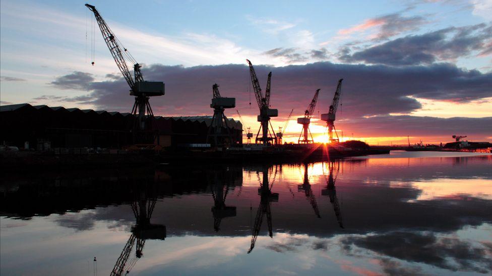 The shipyards in Govan